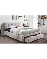 King Platform Bed With Drawers by Big Deal On Baxton Studio Brandy Fabric Upholstered King Size