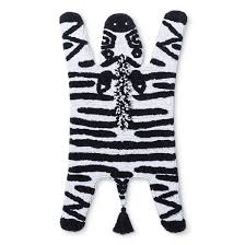 Zebra Bath Rug Pillowfort Zebra Shaped Bath Rug 19 X34 Black White Bath