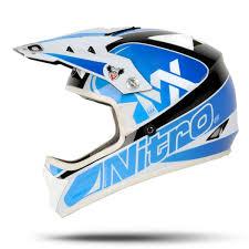 cheap youth motocross helmets nitro raider junior blue black white motocross helmet childrens
