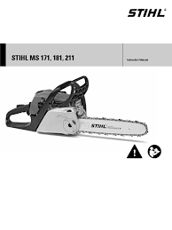 stihl 211 chainsaw manual gasoline energy and resource