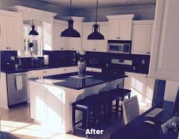 Painted Black Kitchen Cabinets Before And After Gallery Allen Brothers Cabinet Painting
