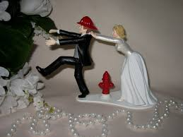 fireman wedding cake toppers firefighter wedding cake topper trellischicago