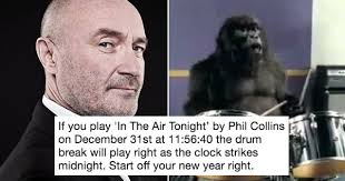 Phil Collins Meme - phil collins has some advice to make your new year s eve party go