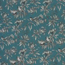 home decor fabric global chic uccello wide width blue