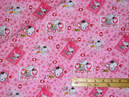 snoopy woodstock peanuts valentine patch fabric 22 long