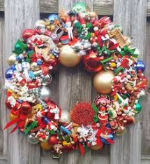vintage wood glass ornament 21 wreath