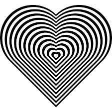 stripe zebra heart coloring book colouring sheet page black