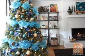 christmas tree decorating ideas turquoise blue u0026 bronze