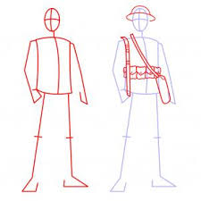 how to draw soldiers step by step figures people free online