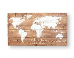 50th anniversary guest book personalized world map wedding guest book wedding guest book