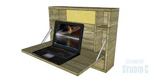 How To Build A Cabinet Box Short On Space Add A Cabinet To The Wall For A Laptop U2013 Designs