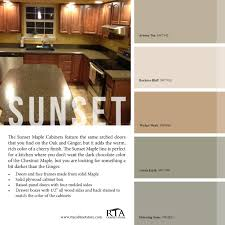 color palette to go with our sunset maple kitchen cabinet line