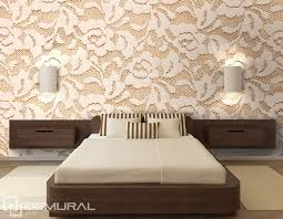 roses en dentelle papier peint pour le chambres à coucher