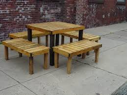 Outdoor Table And Bench Seats Bench Wooden Bench Set Amish Cedar Wood Outdoor Dining Furniture