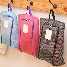 Portable waterproof shoe bag travel tote toiletries laundry pouch