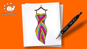 colorful dress coloring page to learn colors coloring pages for
