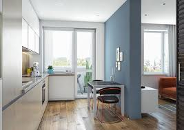 Orange And Blue Home Decor 3 One Bedroom Homes With Sharp Geometric Decor