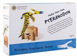 Build Your Own Toy Box Kit by Pathfinders Build Your Own Flying Pteranodon Automata Wooden Kit