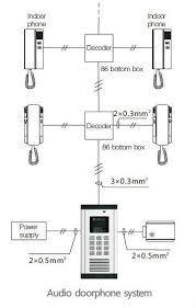 intercom system wired apartment door bell handset doorphone buy