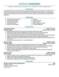 Senior Business Analyst Resume Data Management Analyst Cover Letter