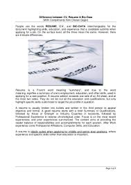 difference between a cv and a resume resume for your job application