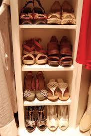 beauteous shoe storage for closets showcasing four shoe shelves