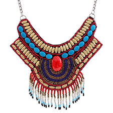 necklace women vintage images Solememo vintage bohemian necklaces pendants bead pendant big jpg