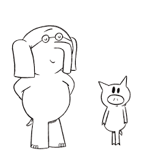elephant and piggie coloring page library stuff