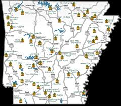 state of arkansas map map of the 52 arkansas state parks this map gives you