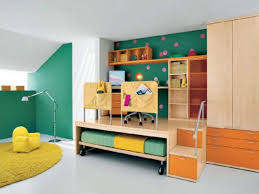 chic interior for small boys bedroom with multifunctional