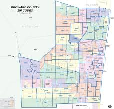 Florida Map Cities Broward County Florida Map With Zip Codes Image Gallery Hcpr