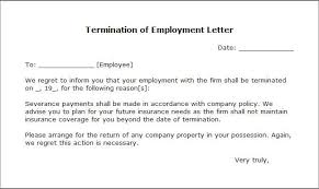 brilliant ideas of how to write a letter of termination employment
