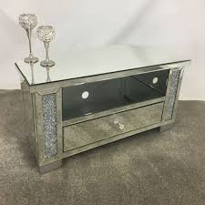 Furniture For Tv Stand Tv Stands Wonderful Mirrored Tv Stand Image Ideas White And