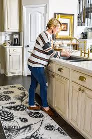 corner cabinet kitchen rug my new machine washable kitchen rug salvaged living