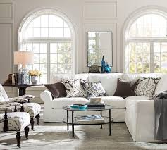 Pottery Barn Slipcover Sectional Living Room Luxury L Shaped Couch Covers For Modern Living Room