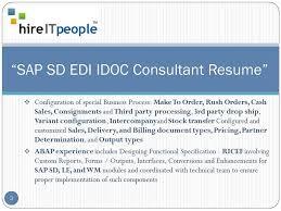 Sap Abap Sample Resumes by Edi Resume Resume Cv Cover Letter