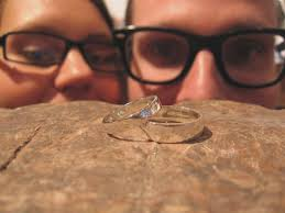 make your own wedding band set of custom wooden wedding bands with wood accents and