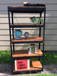 Industrial Shelving Unit by Lester River Trading Co Furniture Rough Sawn Industrial