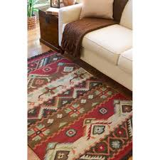 southwest area rugs hand woven red tan southwestern aztec louise wool flatweave rug 5