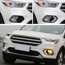 car driving led daytime running light turn signal fog lamp for