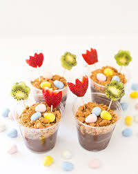 fruit treats easter fruit flower pudding treat