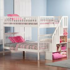 bunk beds for girls rooms atlantic furniture columbia full over full bunk bed hayneedle