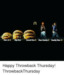 Big Mac Meme - mac jro big mac grand mac mac daddy daddy mac o happy throwback