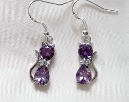 cat earrings cat earrings etsy