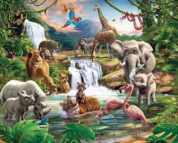 wallpops walltastic wall art jungle adventure wall mural walltastic wall art jungle adventure wall mural