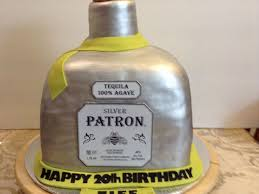 birthday tequila patron bottle birthday cake the bottle is all cake the cork is