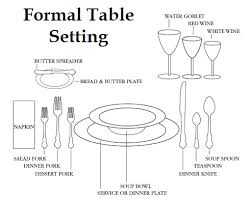 proper table setting etiquette formal dining table setting dining table formal table layout