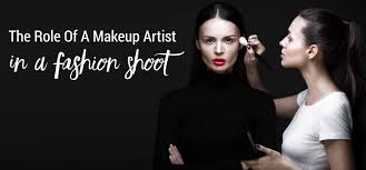 make up school the of a makeup artist in a fashion shoot makeup school
