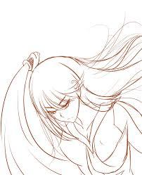 badass female katana user rough sketch by kazukisaito on deviantart