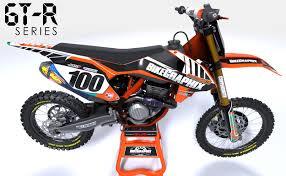 motocross helmet wraps ktm gtr semi custom motocross graphics bikegraphix